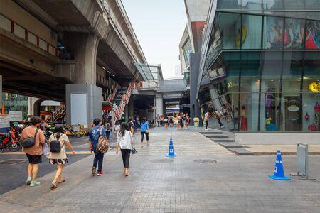 Bangkok - Thailand, 3 Aug 2019: Bangkok City Center With many department stores. Popular shopping spots of urban people