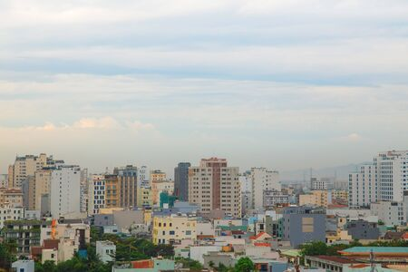 Danang, Vietnam: 10 May 2019 - Residential buildings and hotels in Danang, a city on the beach