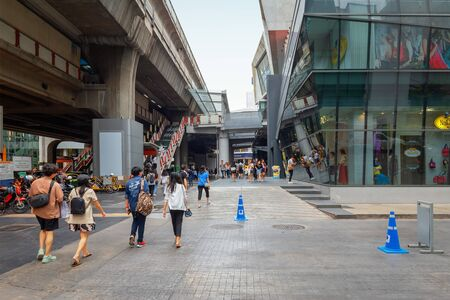 Bangkok - Thailand, 3 Aug 2019: Bangkok City Center With many department stores. Popular shopping spots of urban people