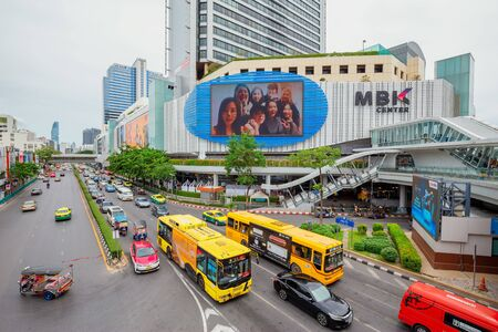 Bangkok - Thailand, 3 Aug 2019: View of MBK Shopping Center It is a mall that is popular with tourists.