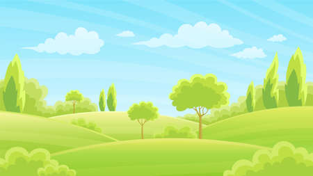 Lush forests and grasslands With hills and sky in the background