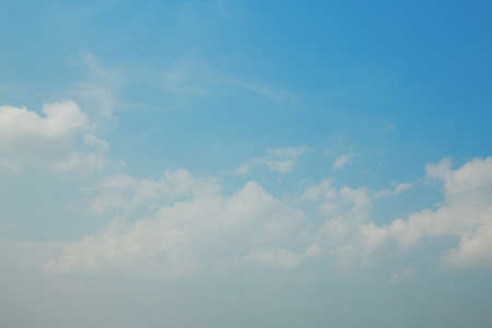 Blue sky. As a natural background image
