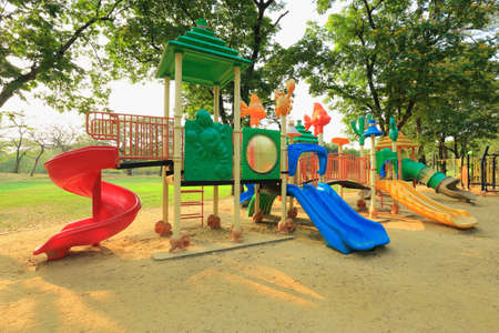 Playground for children On a sunny day Standard-Bild