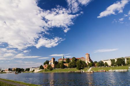 Wawel castle krakow poland river vista Stock Photo