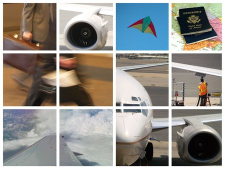 Montage of Business travel - airplanes and flying theme