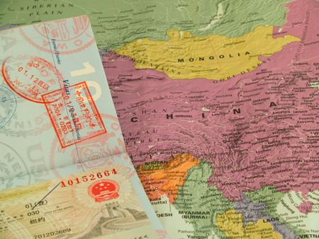travel to china - passport stamps and visa to china photo