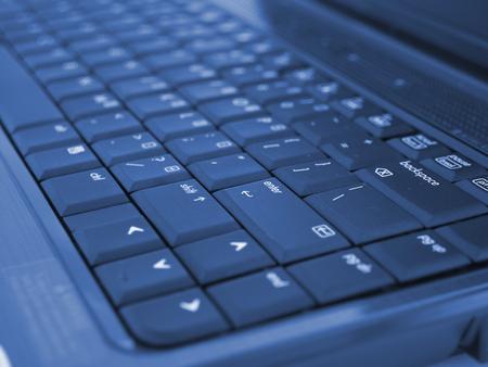 Laptop Computer close up photo of keyboard  Stock Photo