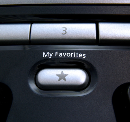 Favorites button on computer keyboard Stock Photo