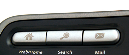 Internet control panel keyboard buttons
