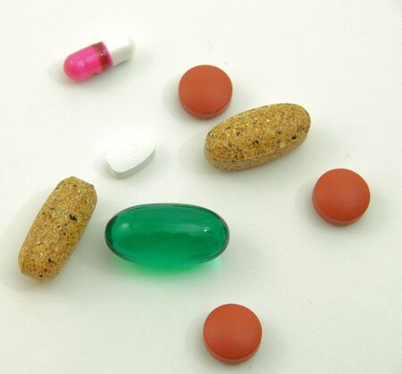 longevity drugs: an assortment of different pills and medications