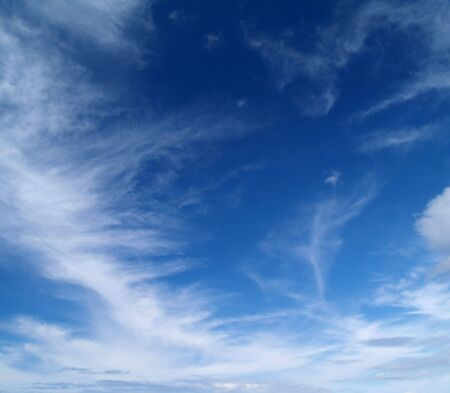 The sky with white clouds - Cirrus