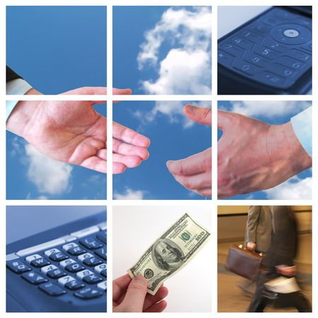 Collage of Business related themes 3x3 Stock Photo - 2434359