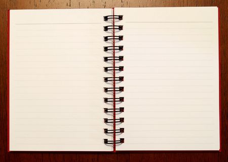 Open note book showing 2 pages