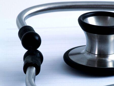 Close up of stethoscope used for medical examination - Night