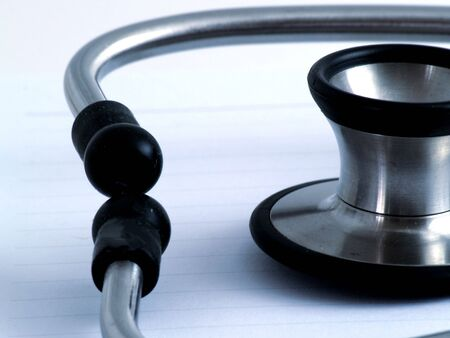 Close up of stethoscope used for medical examination - Night