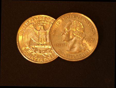 25 cents: Two US quarters - 25 cents