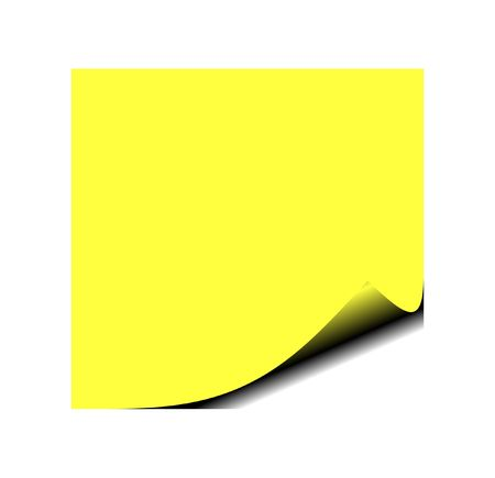 Photo of yellow post it note
