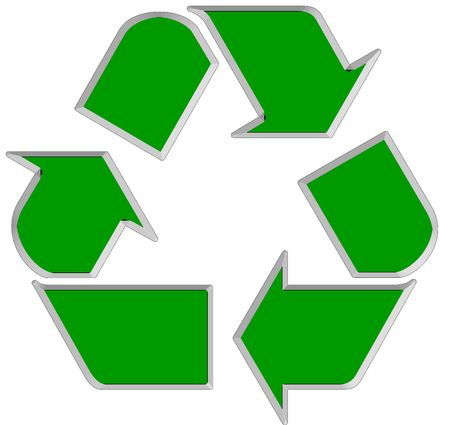 Green world wide Recycle symbol 1 Stock Photo - 2734703