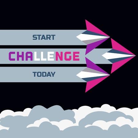 Challenge Concept. Start today. 向量圖像
