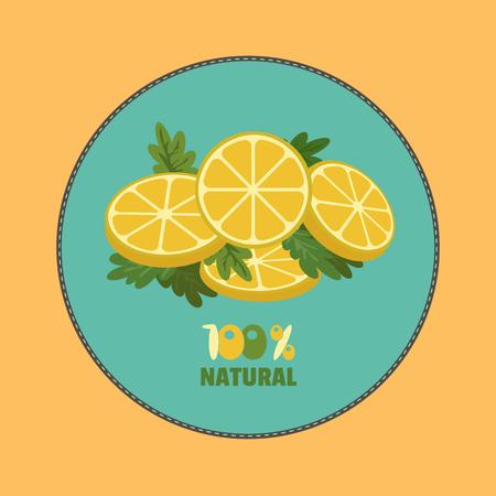 citrus fruits: Citrus Fruits. Sliced lemon with herbs.