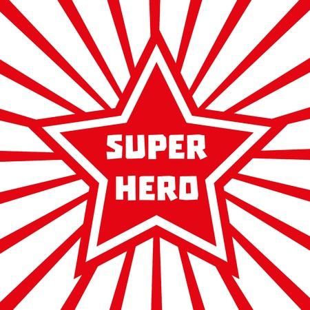 Super hero star. Star banner background. Star Shape. Success Superstar Victory Winning Vector Concept. Leader boss star Concept. Sport star Concept. Business star Concept. Vector illustration