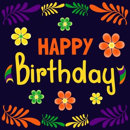 Happy Birthday Card Balloons Confetti Cute Fonts Idea For
