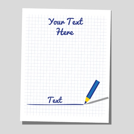 test paper: Flat identity blank sheet of paper for writing, test, exam.