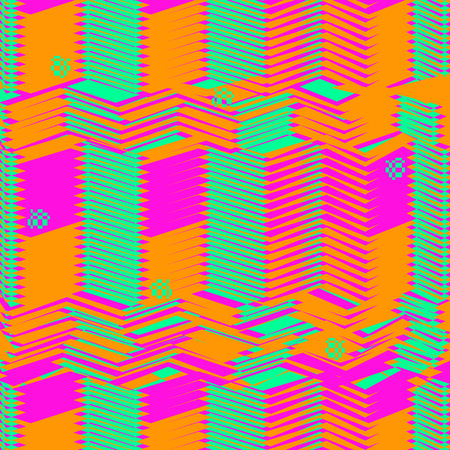 Techno abstract background. Glitch art style. Digital rectangular shapes geometric pattern. Stylized distortion error. Flow of bright random strips. Vector element for design concept, poster, web