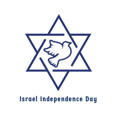 Israel Independence Day Jewish Holiday Logo Concept Symbols