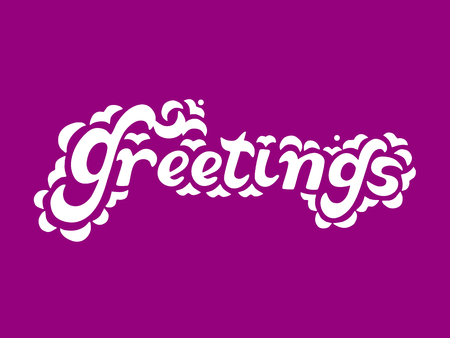 wed: Hand written Lettering Greeting. Hand sketched graphic element. Doodle style. Template for your creative design of greeting card, flayer, banner, printing, poster, wed design. Vector illustration.