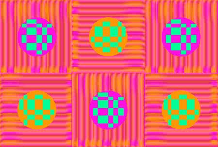 Techno abstract background. Glitch art style. Digital rectangular shapes geometric pattern. Stylized pixel distortion. Flow random abstract neon strips. Vector element for design concept, poster, web Illustration