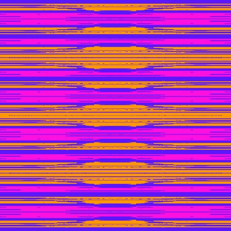 Techno abstract background. Glitch art style. Digital shapes geometric pattern. Stylized signal error. Flow of bright colorful random line strips. Vector element for design concept, poster, web Illustration