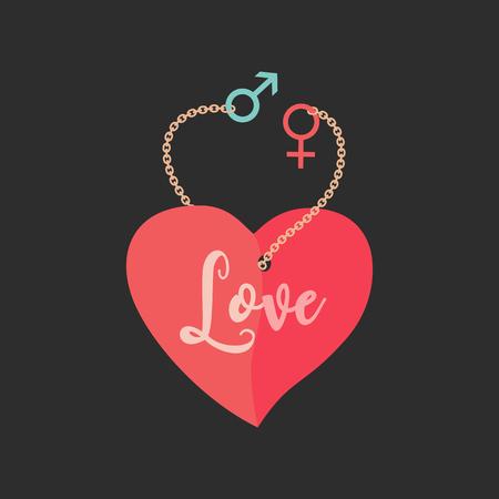 Cartoon love poster