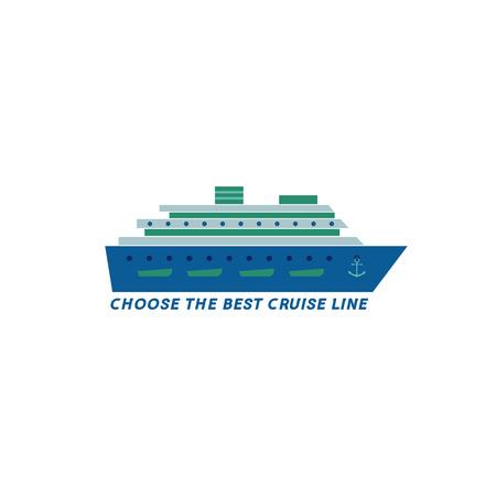 cruise ship icon: Cruise ship icon Illustration