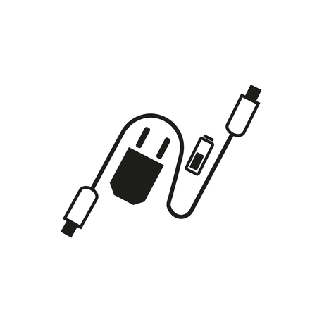 Charging accessories icon Illustration