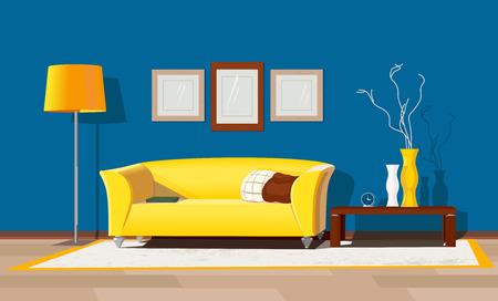 モダンな家のインテリア  イラスト・ベクター素材