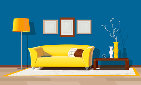Modern house interior Иллюстрация