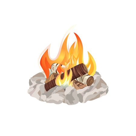 ember: Campfire icon concept Illustration