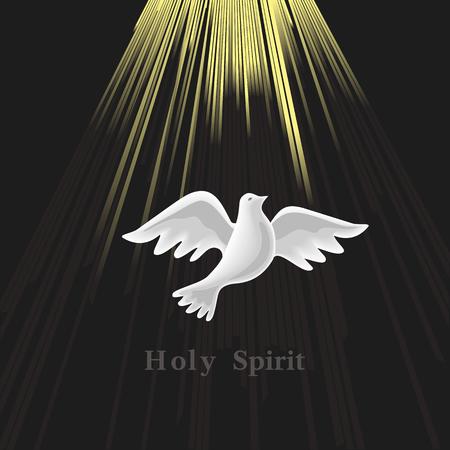 Pentecost Sunday. Holy Spirit. Иллюстрация