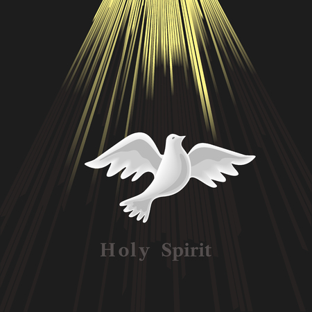 Pentecost Sunday. Holy Spirit. Stock Illustratie