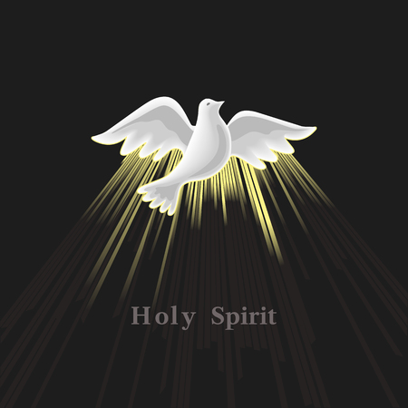 Pentecost Sunday. Holy Spirit. Çizim