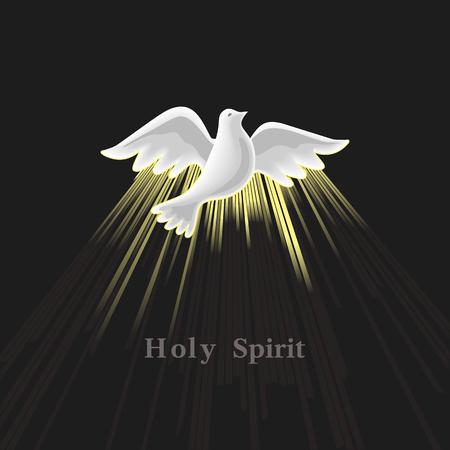 Pinksteren zondag. Heilige Geest. Stock Illustratie