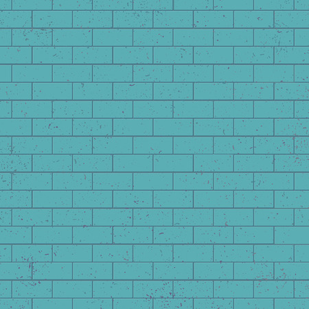 Blue brick wall vector texture vector. Hand drawn vintage style. Decorative building bricklaying material illustration for design element. Abstract background of retro grunge rectangle bricks surface