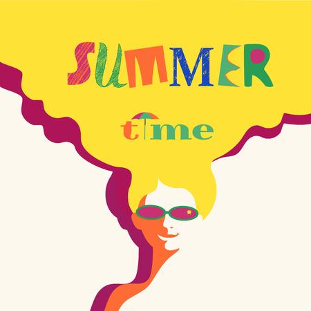Summer rest concept Illustration