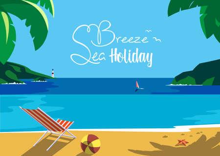 coastal: Summer seaside landscape Stock Photo