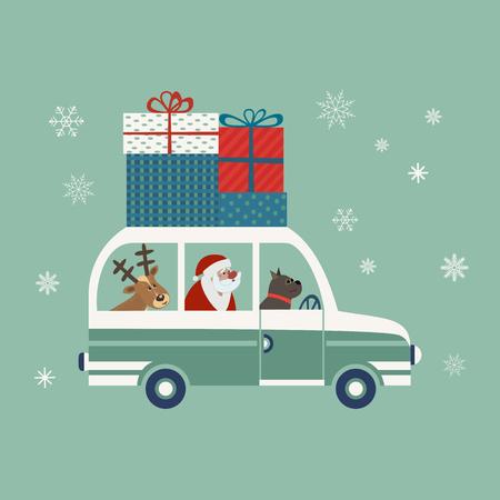 Happy holidays poster  イラスト・ベクター素材