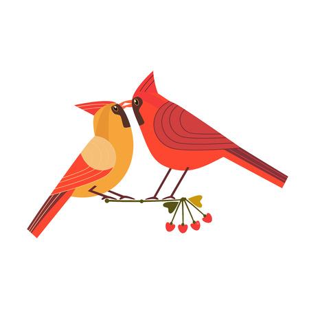 Kussende vogels pictogram Vector Illustratie