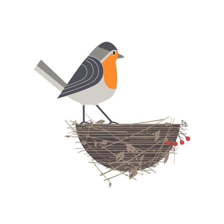 Robin bird icon.