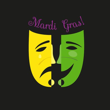 Mardi Gras celebration label. Иллюстрация