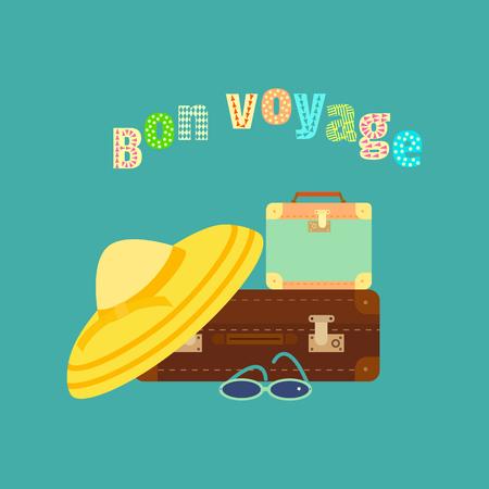 観光旅行アイコン  イラスト・ベクター素材
